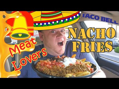 Taco Bell ☆MEAT LOVERS NACHO FRIES☆ BellGrande Food Review!!!