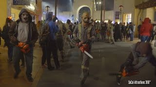 Crazy CHAINSAW Chase Out at Halloween Horror Nights 2015 - Universal Studios Hollywood