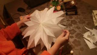 How to make a 3D Christmas Star out of  breakfast bags - Paper Craft