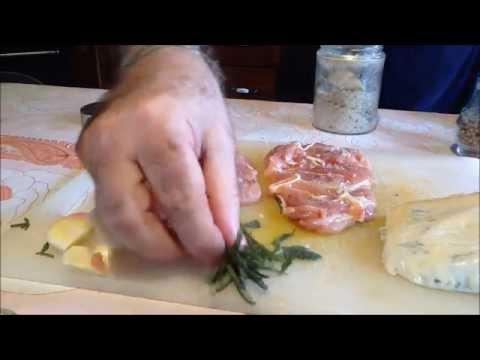 Coscette di pollo, salvia e gorgonzola