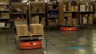 Robot trong kho Amazon