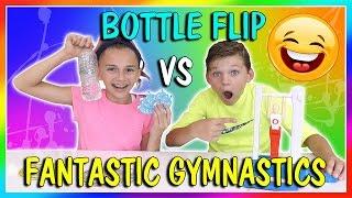 BOTTLE FLIP VS FANTASTIC GYMNASTICS CHALLENGE   We Are The Davises