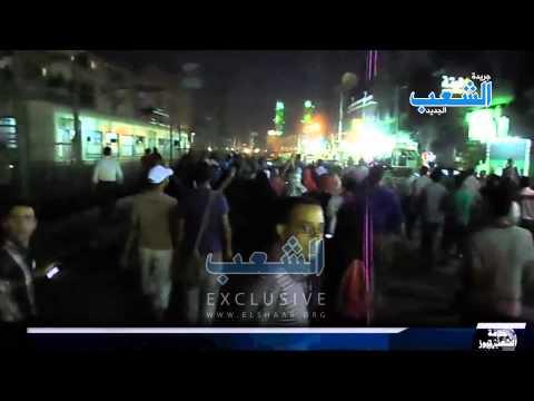 مسيرة رافضة للانقلاب تجوب ميدان المطرية تنديدا بالانقلاب