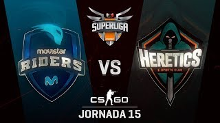 MOVISTAR RIDERS VS TEAM HERETICS - MAPA 1 - SUPERLIGA ORANGE - #SUPERLIGAORANGECSGO15