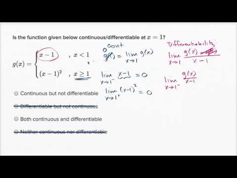 Differentiability At A Point Algebraic Function Isnt