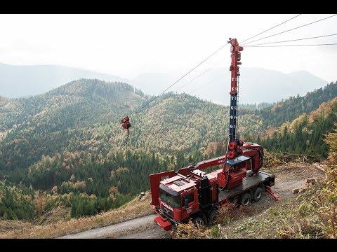 Mobile Tower Yarder / Mountain Harvester /  Processor Head / logging in Austria / TST
