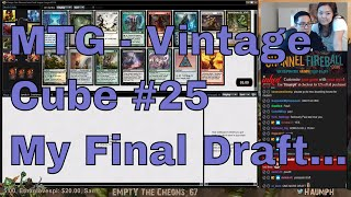 Well, this is it. My final draft and piece of MTG content that I will put out before starting my position as a member of the Play Design team for WOTC. Finishing it up with an awesome Vintage Cube deck is exactly how I would want to end it. I want to thank everybody for all their support over the years and I will truly miss you all.