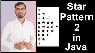 Star Pattern - 2 Program (Logic) in Java by Deepak