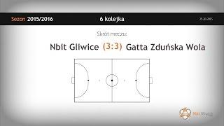 Skrót meczu Nbit Gliwice - Gatta Zduńska Wola (6 kolejka)