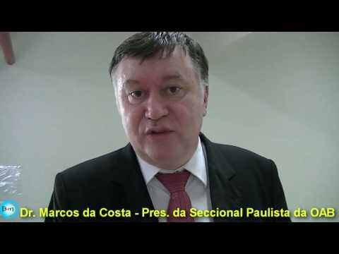 EXCLUSIVO - Presidente da OAB Dr Marcos da Costa, elogia atuação do  Dep. Fausto Pinato na defesa das prerrogativas dos advogados e critica o MP; o Pres. deixa um recado aos Advogados Jalesenses.