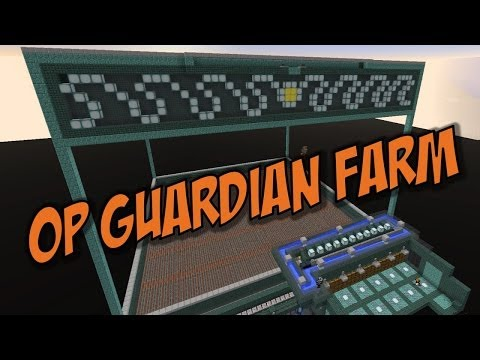 Minecraft Guardian Farm: 100K+ items/hour - Completely OP!