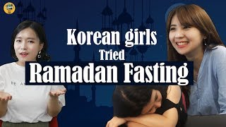 Video Korean girls tried ramadan fasting! |Selamat Hari Raya XD|Blimey MP3, 3GP, MP4, WEBM, AVI, FLV Desember 2018