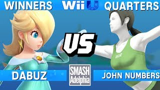 This Super Smash Bros. 4 Wii U tournament match features Dabuz as Rosalina vs John Numbers as Wii Fit Trainer. This Winners Quarters match at SMASHADELPHIA 2017 was livestreamed on 06/25/17.Enjoy the video? Hit the like button and drop a comment and let us know your favorite part. Share it with your friends and spread the hype!Check out our website:► http://clashtournaments.comWatch our live streams:► http://twitch.tv/clashtournaments► http://hitbox.tv/clashtournamentsFind us on social media:► http://facebook.com/clashtournaments► http://youtube.com/clashtournaments► http://twitter.com/clashtournament► http://instagram.com/clashtournamentsBe sure to Follow and Subscribe to us to keep up to date on all of our content. Click the bell next to the subscribe button to receive instant notifications on all uploads!