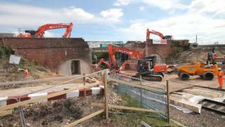 Wootton Bridge United Kingdom  city photo : Broad Town bridge reconstruction, Wiltshire, May 2016