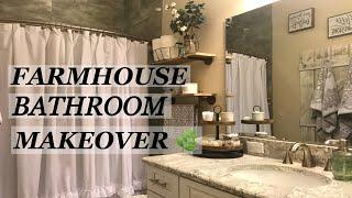 Bathroom Makeover Farmhouse Style 🌿 Fall 2018
