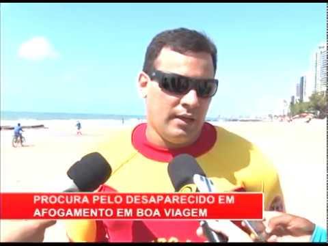 [RONDA GERAL] CB realiza busca po banhista na Praia de Boa Viagem