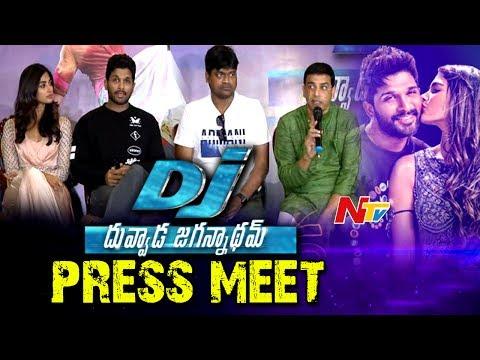 Video DJ Movie Team Press Meet in Tirumala    Allu Arjun, Pooja Hegde, Dil Raju, Harish Shankar download in MP3, 3GP, MP4, WEBM, AVI, FLV January 2017