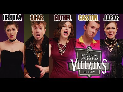Whitney Avalon and Peter Hollens Perform a Sinister Medley of Classic Disney Villain