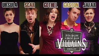 """▶ Villains rock their iconic songs and mess with each other in this intricate medley.▶ This song on iTunes: http://tiny.cc/VILLitunes On Spotify: http://tiny.cc/VILLspot▶ Check out the incredible Peter Hollens: http://bit.ly/JoinTheHollensFamily http://youtube.com/peterhollens ▶ Subscribe: http://tiny.cc/WAsubYou know who sometimes gets the very best song in the whole movie? The bad guy or gal. I had such a blast finding so many shades of evil with a cappella king Peter Hollens. We snuck a lot of mean interactions into this video, so keep your eyes peeled!Whitney Avalon as Ursula, Lefou, Mother Gothel, and Jafar.http://whitneyavalon.com http://instagram.com/whitneyavalonPeter Hollens as Scar, Frollo, Gaston, and Dr. Facilier. Plus 109 backing vocals! http://peterhollens.com http://instagram.com/peterhollens** SONGS INCLUDED **""""Poor Unfortunate Souls"""" Ursula from THE LITTLE MERMAID""""Be Prepared"""" Scar from THE LION KING""""Hellfire"""" Claude Frollo from THE HUNCHBACK OF NOTRE DAME""""Gaston"""" Lefou & Gaston from BEAUTY AND THE BEAST""""Mother Knows Best"""" Mother Gothel from TANGLED""""Friends on the Other Side"""" Dr. Facilier from THE PRINCESS AND THE FROG""""Prince Ali Reprise"""" Jafar from ALADDIN** CREDITS **Producer, Director: Whitney AvalonProducer, Director: Peter HollensProduction Designer, Lighting, Assistant Director, Post Supervisor: Jeremy BronsonEditor: Reilly ZamberCinematographer: Merlin ShowalterHair and Make-Up Artist: Roxy AllenMs. Avalon's Costume Designer: Sarah JeanneMr. Hollens' Costume Designer: Jamie ParkerMusic Arranger: Tom AndersonMusic Editor: Alex GreenMix: Ed BoyerMastering: Bill HareRecording Engineers: Ben Bram, Peter HollensMs. Avalon's Assistant: Caroline SharpMr. Hollens' Assistant, Post Production Assistant: Nicole SlenningPAs: Dustyn Smith, Samantha WestmorelandPA, BTS Camera: Jordan BrooksTitles, Graphics: Kent CarolloSpecial Thanks, Location: Enchanted Forest in Turner, Oregon Press/licensing/business: contactwhitneyavalon@gmail.comIf you made it to the """