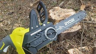 "7. Ryobi One+ 18V Brushless Cordless 12"" Chainsaw Review"