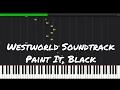 Westworld Soundtrack - Paint It, Black Piano Tutorial