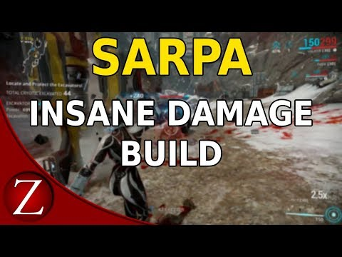 Insane Damage Sarpa Build - Warframe Plains Of Eidolon Gameplay