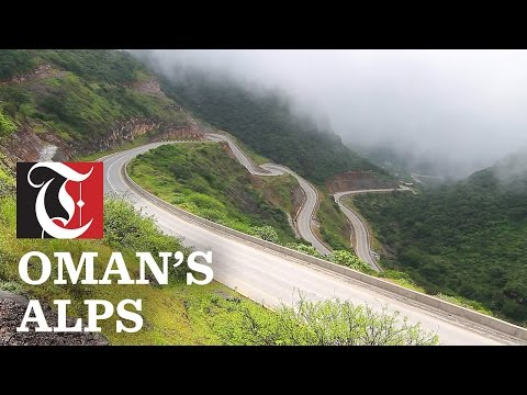 A journey through the lush green mountains of southern Oman