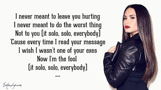 Video Solo - Clean Bandit feat. Demi Lovato (Lyrics) MP3, 3GP, MP4, WEBM, AVI, FLV Mei 2018