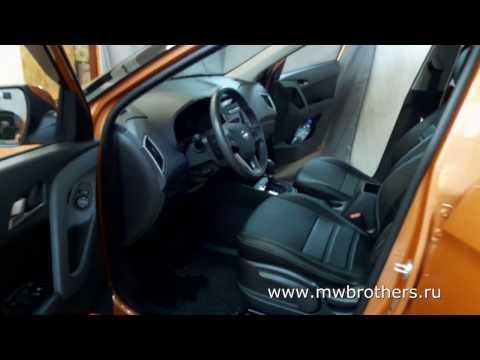 """Чехлы на Hyundai Creta, серии """"Comfort"""" - серая строчка"""