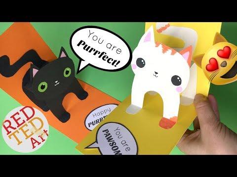 Easy 3D Cat Pop Up Card DIY