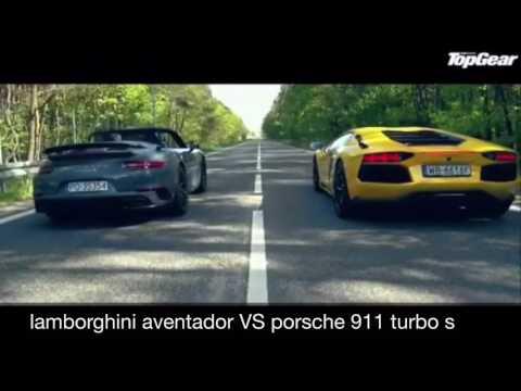 lamborghini aventador vs porsche 911 turbo s