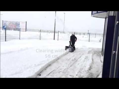 Uporaba snežne freze ELEKTRO MASCHINEN STEM 13070 E