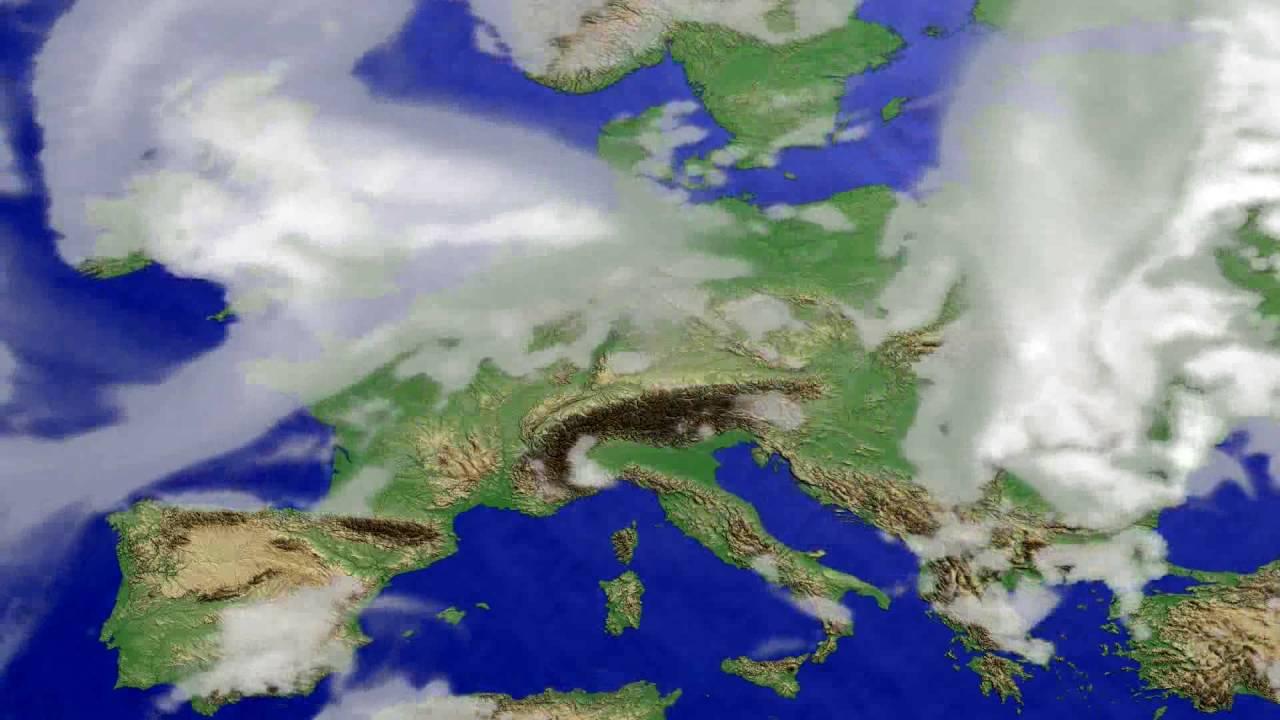 Cloud forecast Europe 2016-06-25