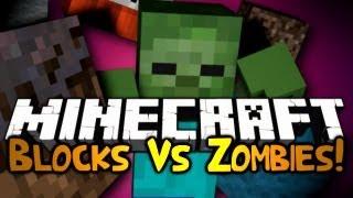 Minecraft: Mini Game: Blocks Vs Zombies! w/ Gizzy&Friends!