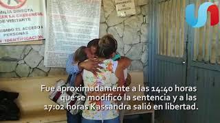Kassandra Gil es liberada de prisión preventiva