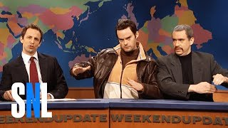 "Vlad (Bill Hader) and Niko (Fred Armisen) from the video game Grand Theft Auto 4 appear on ""Weekend Update"" to protest the depiction of themselves as thugs who beat and kill people in their virtual home, Liberty City. [Season 33, 2008]Weekend Update Summer Edition, Thursday, August 10, live, at 9/8c on NBC. Get more SNL: http://www.nbc.com/saturday-night-liveFull Episodes: http://www.nbc.com/saturday-night-liv...Like SNL: https://www.facebook.com/snlFollow SNL: https://twitter.com/nbcsnlSNL Tumblr: http://nbcsnl.tumblr.com/SNL Instagram: http://instagram.com/nbcsnl SNL Pinterest: http://www.pinterest.com/nbcsnl/"