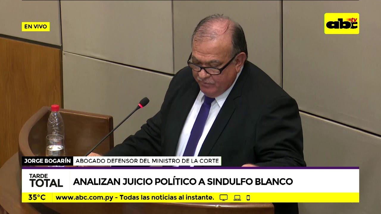 Analizan juicio político a Sindulfo Blanco