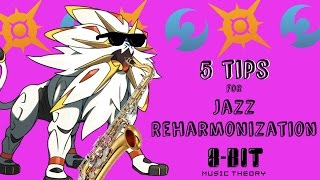 In this video I take a look what Pokemon Sun and Moon's Hau'Oli City themes can teach us about jazz reharmonization. Follow me on twitter: https://twitter.com/8bitMusicTheory