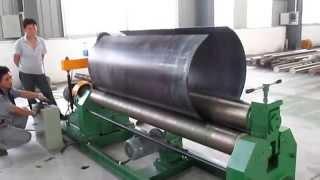 Download Lagu W11 mechanical 3-roller symmetrical plate rolling machine Mp3