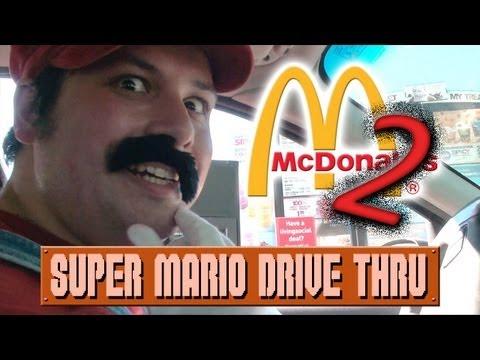 Super Mario Drive Thru McDonalds #2 (Live Action Mario Prank)