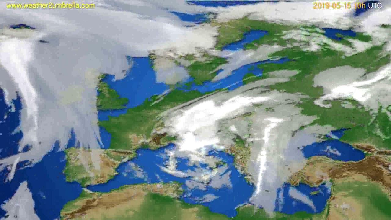 Cloud forecast Europe // modelrun: 12h UTC 2019-05-12