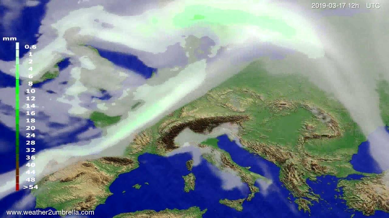 #Weather_Forecast// Precipitation forecast Europe 2019-03-15