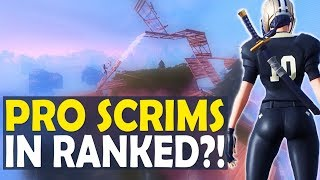 PRO SCRIMS IN RANKED? MY HARDEST MATCH EVER | HIGH KILL FUNNY GAME - (Fortnite Battle Royale)