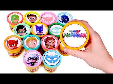 Pocoyo - Sorpresas Divertidas en Botes Play Doh  Encontramos juguetes de PJ Masks en Botes Play Doh