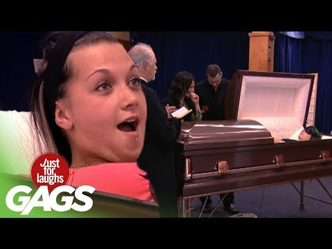 Best of Just For Laughs Gags – Creepy Coffin Pranks