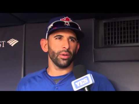 Video: Toronto Blue Jays Jose Bautista loves the baseball fans at Yankee Stadium