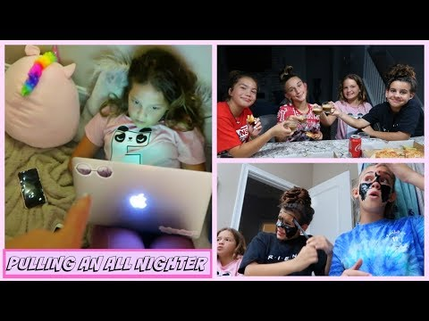 PULLING AN ALL NIGHTER SLEEPOVER CHALLENGE WITH MY FRIENDS | SISTER FOREVER