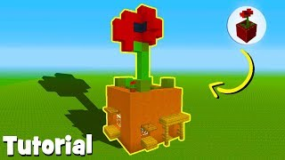"""Minecraft Tutorial: How To Make A House In a Flower Pot """"Flower Pot House"""""""