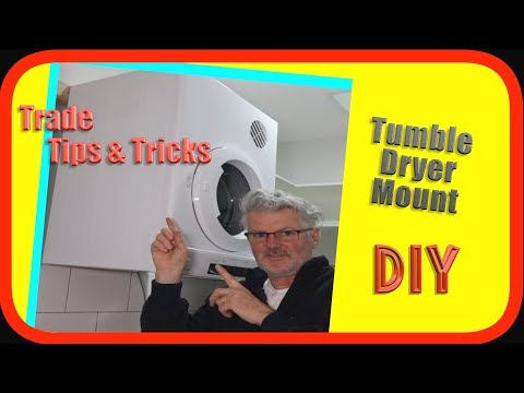 Tumble Clothes Drier (Dryer) Wall Mount | How to DIY