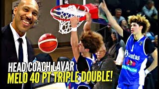 LaMelo Ball STRAIGHT FOOLIN! 40 POINT TRIPLE DOUBLE in LaVar's HEAD COACHING Debut!
